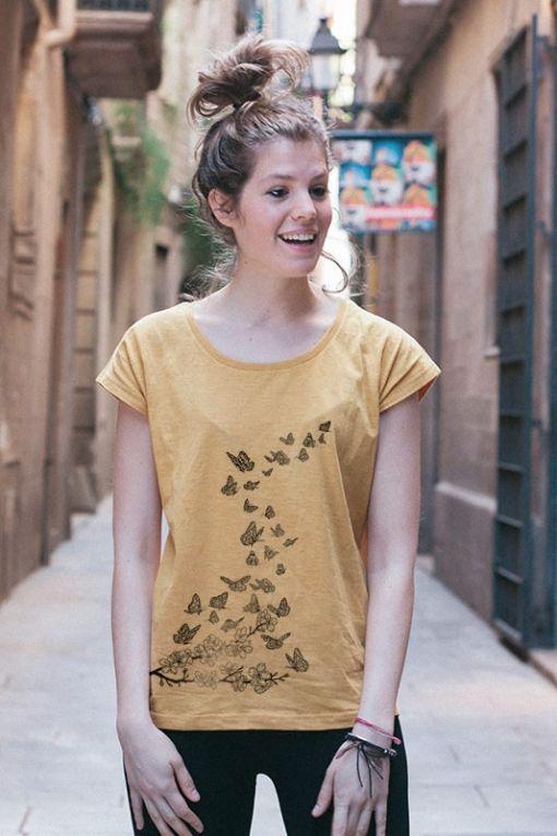 Mariposas - camiseta mujer 1